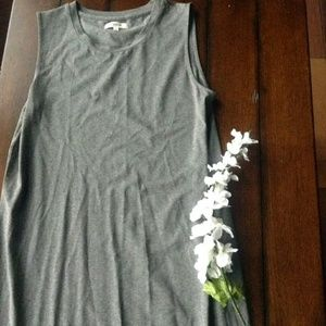 Madewell long dress size Small Gray